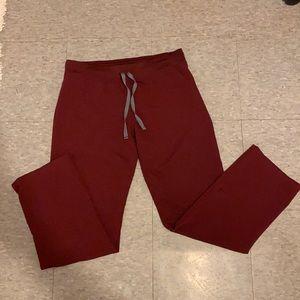 Burgundy Fig scrub pants